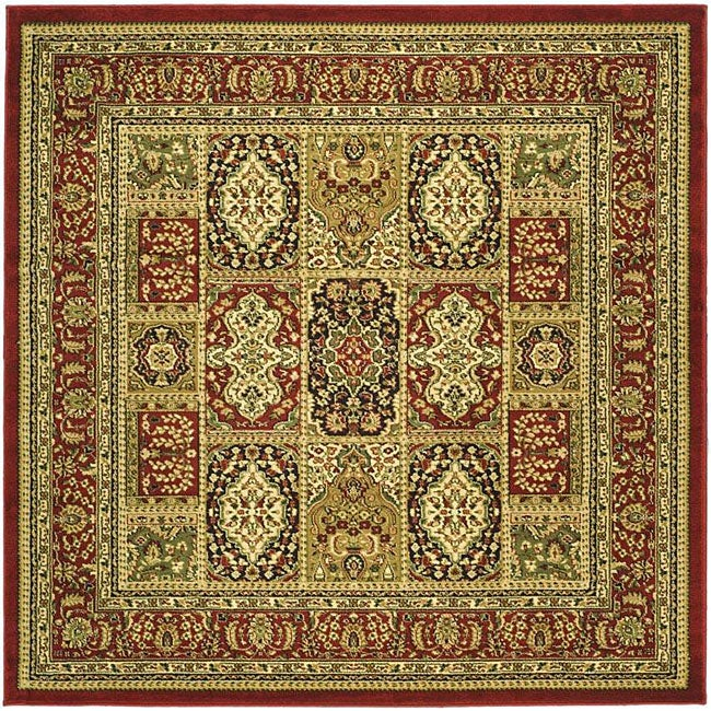 Lyndhurst Collection Isfan Red/ Multi Rug (6 Square)
