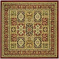 Lyndhurst Collection Isfan Red/ Multi Rug (6' Square)