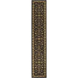 Lyndhurst Collection Black/ Ivory Runner (2'3 x 12')