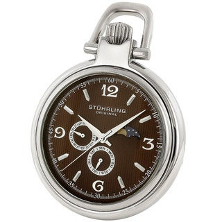 Stuhrling Original Men's Monarch Moon Pocket Watch