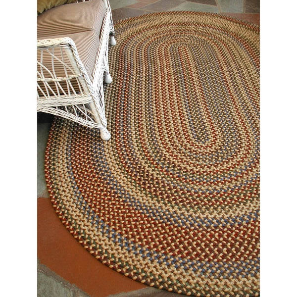 Monticello Indoor / Outdoor Multi-Colored Braided Rug (7'4 x 9'4)