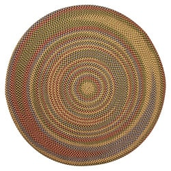 Jefferson Indoor/Outdoor Multicolor Braided Rug (6' Round)