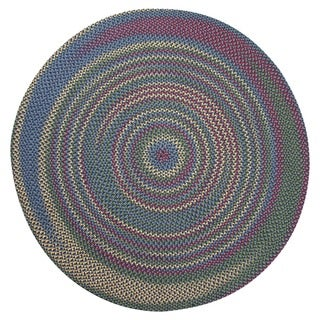 Jefferson Navy Indoor/ Outdoor Braided Rug (6' Round)