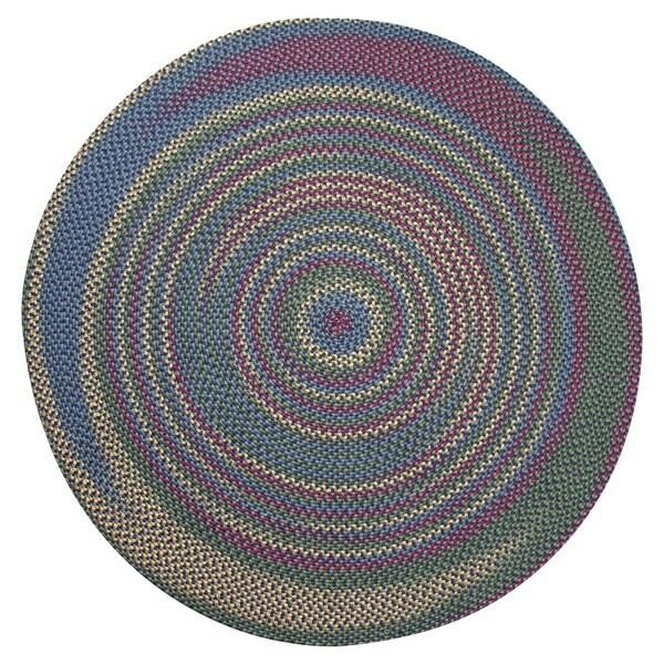 Monticello Navy Indoor / Outdoor Braided Rug (6' Round)