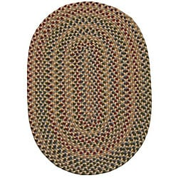 Jefferson Indoor/Outdoor Traditional Braided Rug (7'4 x 9'4)