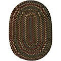 "Jefferson Indoor/Outdoor Braided Oval Rug (5'6"" x 8'6"")"