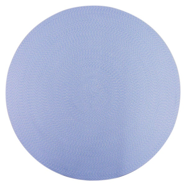 Lemonade Indoor/ Outdoor Light Blue Braided Rug (8' Round)