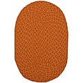 Lemonade Indoor/ Outdoor Orange Braided Rug (1'8 x 2'6)