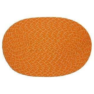 Sun Splash Indoor/ Outdoor Orange Braided Rug (1'8 x 2'6)