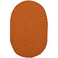 Lemonade Indoor/ Outdoor Orange Braided Rug (3'6 x 5'6)