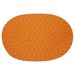 Lemonade Indoor/ Outdoor Orange Braided Rug (3'6 x 5'6)