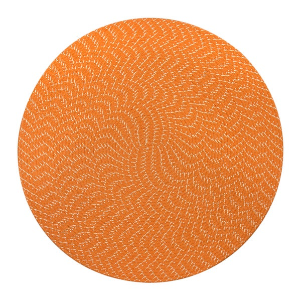 Sun Splash Indoor/ Outdoor Colorful Orange Braided Rug (8' Round)