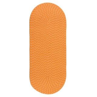 Lemonade Indoor/ Outdoor Colorful Orange Braided Rug (2' x 5')