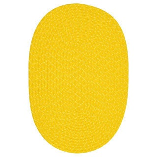 Indoor/ Outdoor Yellow Braided Lemonade Rug (1'8 x 2'6)