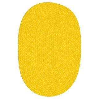 Indoor/ Outdoor Yellow Braided Lemonade Rug (3'6 x 5'6)
