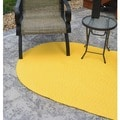 Indoor/ Outdoor Yellow Braided Lemonade Rug (3'6 x 5'6)