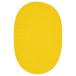 Indoor/ Outdoor Colorful Yellow Braided Rug (5' x 8')