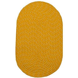 Indoor/ Outdoor Colorful Yellow Braided Rug (8' x 11')