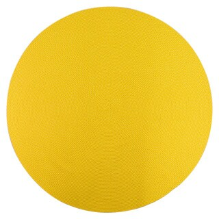 Indoor/ Outdoor Colorful Yellow Braided Rug (8' Round)