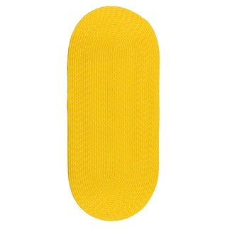 Indoor/ Outdoor Colorful Yellow Braided Rug (2' x 5')