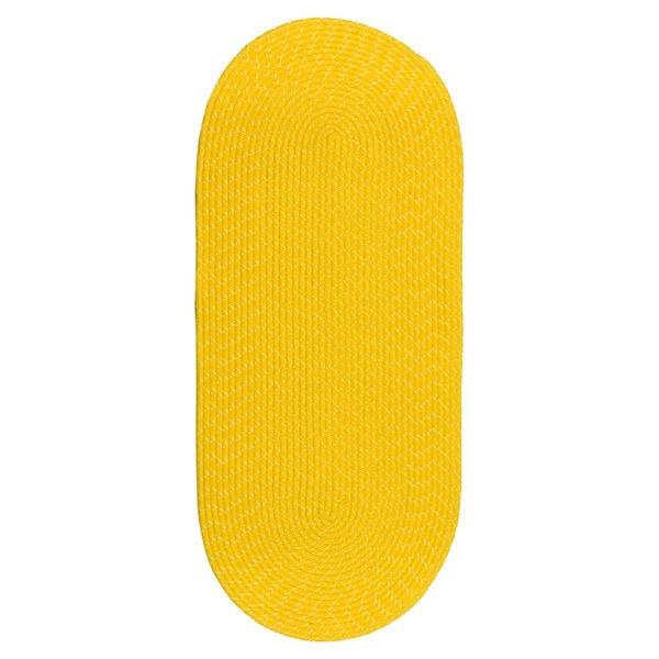 Sun Splash Indoor/ Outdoor Colorful Yellow Braided Rug (2' x 5')