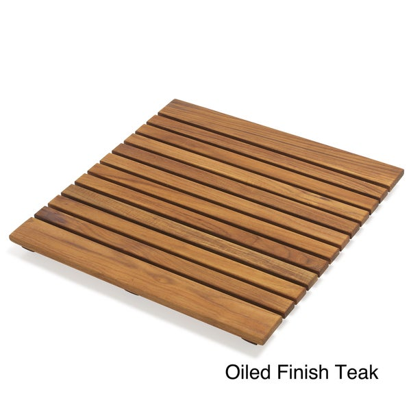 "Le Spa 19.7"" Teak Bath Mat"