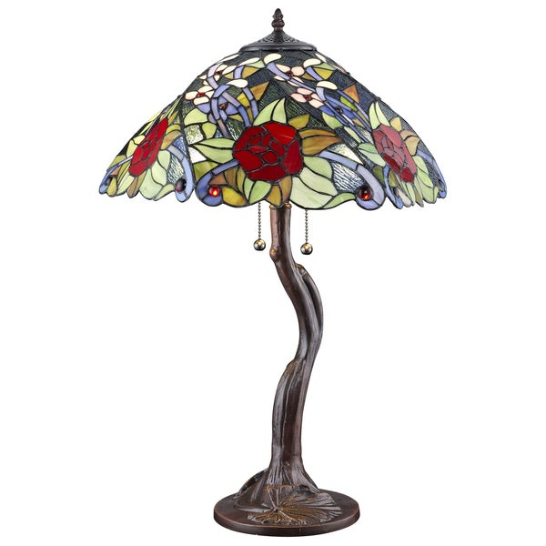 Tiffany-style Rose Tree Table Lamp