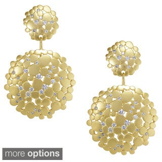 Nexte 14k Goldplated 'Cynthian Celestial' Cubic Zirconia Earrings