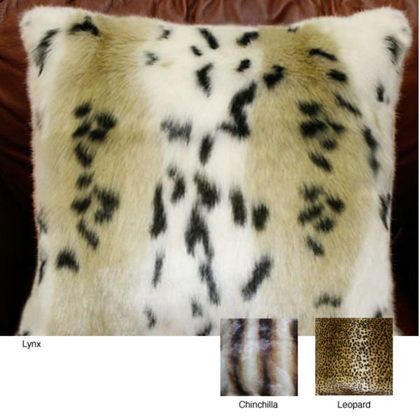 Aurora Home Safari Faux Fur Pillow Collection (Set of 2)