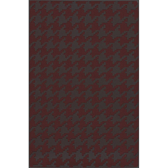 Hand-woven Red Wool Camrose Rug (5' x 8')
