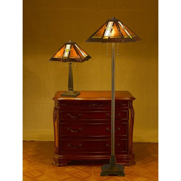 Tiffany Style Aztec Mission Lamps Set Of 2 Overstock