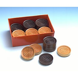Set of 25 1.25-inch Wood Checkers
