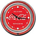 Coca Cola Logo 14-inch Double Ring Neon Clock