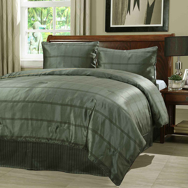 Expressions Slate 3-piece Duvet Cover Set