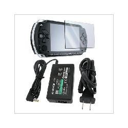 Screen Protector and AC Wall Power Charger for Sony PSP