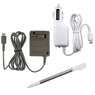AC and DC Chargers with Stylus Touch Pen for Nintendo DS Lite