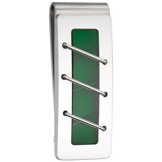 Colibri Diffusion Men's Stainless Steel and Glass Money Clip
