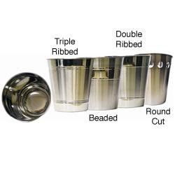 Shiny Long-lasting Stainless Steel Wastebasket (10' x 10.75')