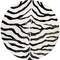 nuLOOM Handmade Zebra Black Wool/ Faux Silk Highlights Rug (6' Round)