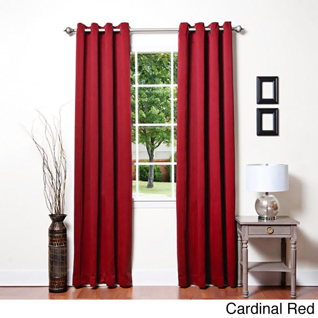 Grommet Top Thermal Insulated 95 inch Blackout Curtain Panel Pair at Sears.com