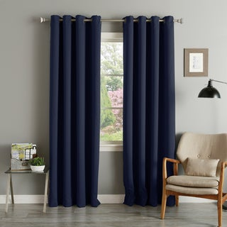 Grommet Top Thermal Insulated 95 inch Blackout Curtain Panel Pair