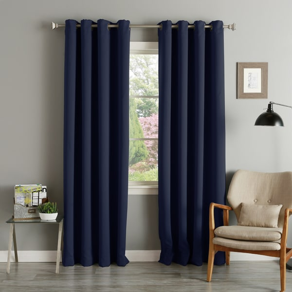 Grommet Top Thermal Insulated 96-inch Blackout Curtain Panel Pair