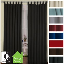 Tab Top Thermal Insulated 95-inch Blackout Curtain Panel Pair
