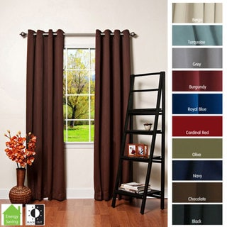 Thermal Insulated Blackout Grommet Top 84-inch Curtain ...