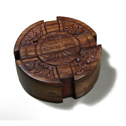 Wooden Fair Trade Cross Puzzle Box , Handmade in India