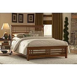 Avery Oak-stain Queen-size Bed