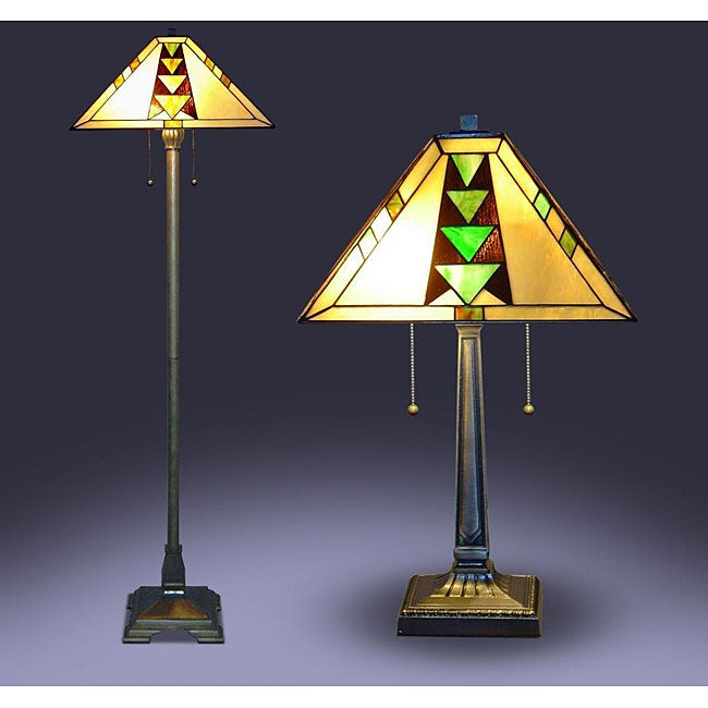 Tiffany-style Mission Lamps (Set of 2)