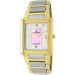 Le Chateau Men's Two-tone Diamond Accented Watch