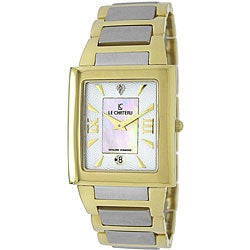 Le Chateau Men's Two-tone Stainless Steel Diamond-accented Watch