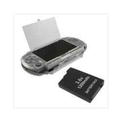Hard Case Cover and  Replacement Battery for Sony PSP 3000